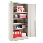 "Alera Quick Assemble Storage Cabinet, 72""-High, 36"" x 18"", Gray"