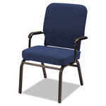 Alera Oversize Stack Chair with Arms, Navy Fabric Upholstery, 2/Carton
