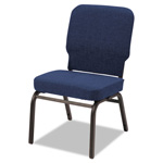 Alera Oversize Stack Chair, Navy Fabric Upholstery, 2/Carton