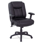 Alera Alera CC Series Executive Mid-Back Leather Chair w/Adj Arms, Black