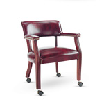 Alera Traditional Series Guest Arm Chair with Casters