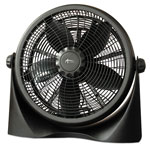 "Alera 16"" Super-Circulation 3-Speed Tilt Fan, Plastic, Black"