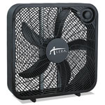 Alera 3-Speed Box Fan, Black