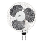Alera Wall Mount Fan, 3-Speed, White