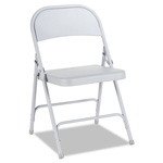 Alera Steel Folding Chair, Gray, 4/Carton