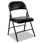 Alera Steel Folding Chair With Padded Back and Seat