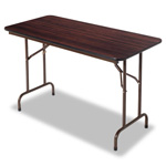 "Alera Walnut Folding Table, 48"" w x 24"" d x 29"" h"