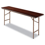 Alera Wood Folding Table, Rectangular, 72w x 18d x 29h, Mahogany
