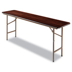 Alera Folding Table, Rectangular, 72w x 18d x 29h, Walnut