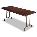 Alera Wood Folding Table, Rectangular, 72w x 29 3/4d x 29h, Mahogany