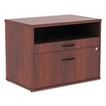 Alera Open Office Series Low File Cabinet Credenza, 29 1/2x19 1/8x22 7/8, Med. Cherry