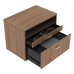 Alera Open Office Series Low File Cabinet Credenza, 29 1/2x19 1/8x22 7/8,Modern Walnut