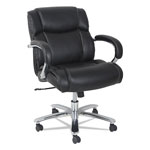 Alera Maxxis Series Big and Tall Leather Chair, Black, Supports up to 350 lb