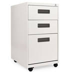 Alera Three Drawer Mobile File Pedestal, 15 7/8w x 28 1/4h x 19 3/4d, Light Gray