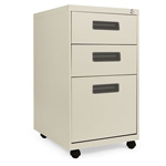 Alera Three Drawer Mobile File Pedestal, 15 7/8w x 28 1/4h x 19 3/4d, Putty