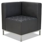 Alera QUB Series Corner Sectional, 26 3/8 x 26 3/8 x 30 1/2, Black