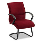 Alera Rici II Thin Profile Series Guest Chair, Fabric, Burgundy