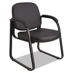 Alera Reception Lounge Series Sled Base Guest Chair, Black Vinyl