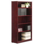 "Alera Mahogany Verona Veneer Series Bookcase with 5 Shelves, 36""w x 14""d x 66""h"
