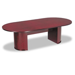 "Alera Mahogany Verona Series Racetrack Conference Table Top, 96""w x 45""d"