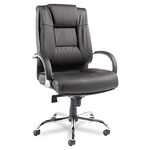 Alera Ravino Big & Tall Series High Back Swivel/Tilt Leather Chair, 450lb Cap., Black