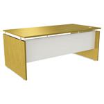 Alera SedinaAG Series Straight Front Desk Shell, 66w x 30d x 29-1/2h, Maple