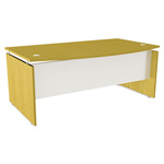 Alera SedinaAG Series Bow Front Desk Shell, 72w x 42d x 29-1/2h, Maple