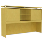Alera SedinaAG Series Hutch with Sliding Doors, 66w x 15d x 42-1/2h, Maple
