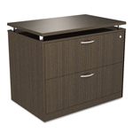 Alera SedinaAG Series Two-Drawer Lateral File, 36w x 22d x 29-1/2h, Espresso