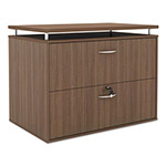 Alera SedinaAG Series Two Drawer Lateral File, 34 1/4w x 22d x 29 1/2h, Walnut