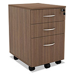 Alera SedinaAG Series Mobile Box/Box/File Pedestal, 15 3/8w x 20d x 26 5/8h, Walnut
