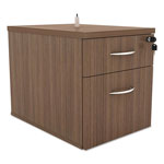 Alera SedinaAG Series Hanging Box/File Pedestal, 15 3/8w x 22d x 19h, Walnut