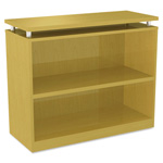 Alera SedinaAG Series Bookcase, 2 Shelves, 36w x 15d x 30h, Maple