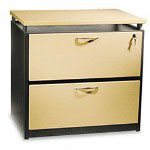 "Alera Maple Seville Series Two-Drawer Lateral File, 36""w x22""d x 29""h"
