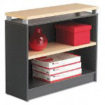 "Alera Maple/Charcoal Seville Series Bookcase with 2 Shelves, 36""w x 15""d x 30""h"