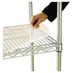 "Alera Wire Shelving Shelf Liners, 48"" x 18"", Clear"