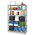 Alera Commercial Wire Shelving, Six-Shelf, 48w x 18d x 72h, Black Anthracite