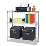 Alera Residential Wire Shelving, Three-Shelf, 36w x 14d x 36h, Silver