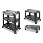 "Alera 3-in-1 Storage Cart and Stand, 21 5/8"" w x 13 3/4"" d x 24 3/4"" h, Black/Gray"