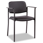 Alera Guest Chair, Leather-Like Caresoft, Black Fabric