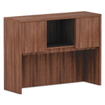 Alera Alera Valencia Series Hutch, 3 Compartment, 47w x 15d x 35 1/2h, Modern Walnut