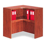 Alera Valencia Series Corner Open Storage Hutch, 36w x 36d x 36h, Medium Cherry