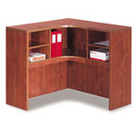 Alera Valencia Series Corner Open Storage Hutch, 42w x 42d x 36h, Medium Cherry