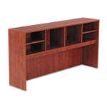 Alera Valencia Series Open Storage Hutch, Medium Cherry, 72w x 15d x 35 1/2h