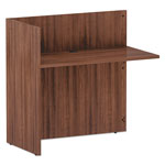 Alera Alera Valencia Series Reversible Reception Return, 44 x 23.63 x 41.5, Mod Walnut