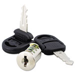Alera Valencia Lock Core, 2 Keys, Chrome