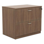 Alera Valencia Series Two-Drawer Lateral File, 34w x 22 3/4d x 29 1/2h, Modern Walnut