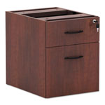 Alera Valencia Series 3/4 Box/File Pedestal, Medium Cherry, 16w x 22d x 22h