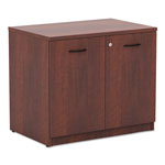 Alera Valencia Series Storage Cabinet, Medium Cherry, 35w x 22d x 29 1/2h