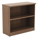 Alera Valencia Series Bookcase, Two-Shelf, 31 3/4w x 14d x 29 1/2h, Modern Walnut